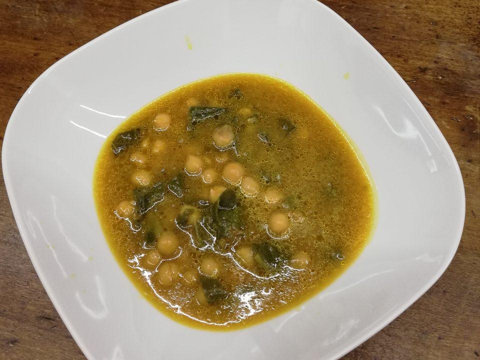 Zuppa di Cecina, zucca e bietola